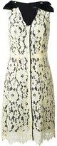 Marc Jacobs floral lace midi dress - women - Silk/Cotton/Nylon/Rayon - 6