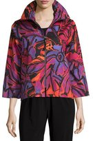 Caroline Rose Samba Printed Zip-Front Jacket, Multi/Black