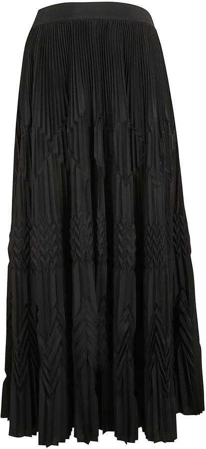 Givenchy Long Pleated Skirt