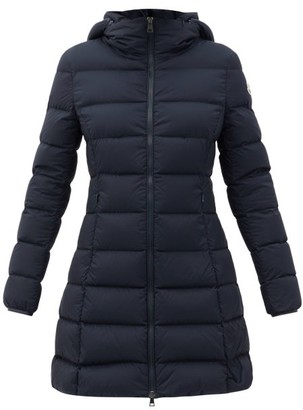 Moncler Gie Hooded Quilted Down Coat - Navy