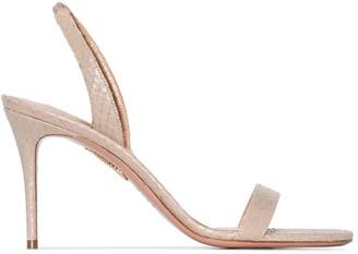 Aquazzura So Nude 85mm sandals