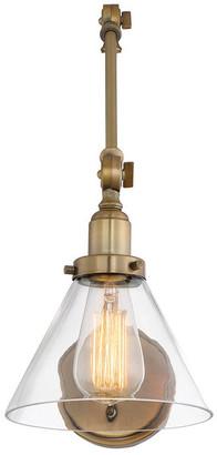 Savoy House Drake 1-Light Adjustable Sconce, Warm Brass