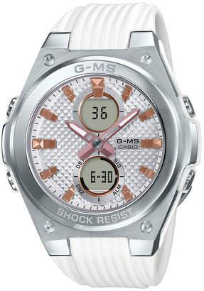 G-Shock G-ms Women Analog-Digital White Resin Strap Watch 40.3mm