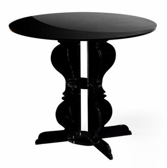 Everly Quinn Marley Dining Table Finish: Black