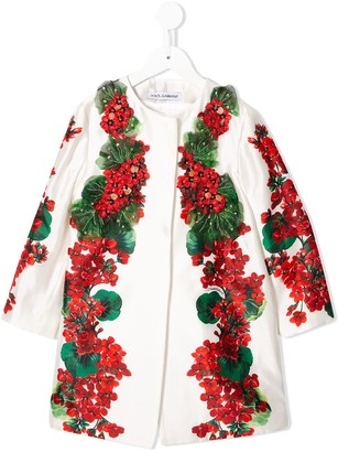 Dolce & Gabbana Kids Sequinned Floral Coat