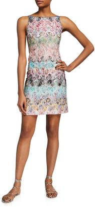 Missoni Short Flame Knit Shift Dress