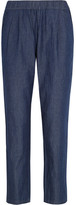 Equipment Hadley Cotton-chambray Tapered Pants - Blue