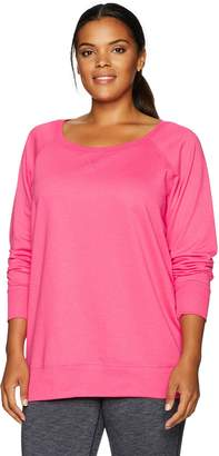 Clementine Apparel Women's Ladies Curvy Plus Slouchy Pullover Sweatshirt