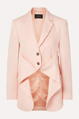 Cédric Charlier Wool-twill Blazer - Pastel pink
