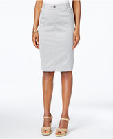 Charter Club Striped Denim Pencil Skirt, Only at Macy's