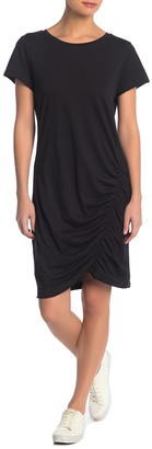 Susina Solid Ruched T-Shirt Dress (Regular & Petite)