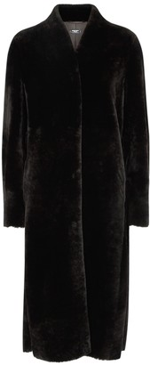 Anne Vest Sierra Dark Brown Shearling Coat