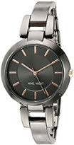 Nine West Women's NW/1797GNGN Gunmetal Bangle Watch