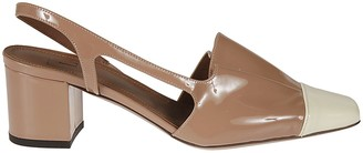 L'Autre Chose Bicolor Vernice Sandals