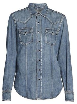 Saint Laurent Western Denim Shirt