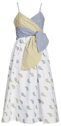Silvia Tcherassi Calusa Wrap Front A-Line Dress