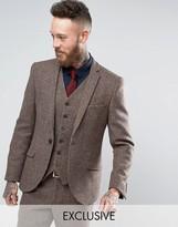 Heart & Dagger Harris Tweed Skinny Suit Jacket