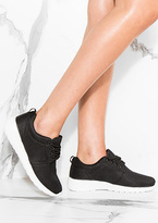 Missy Empire Megan Black Lace Up Trainers