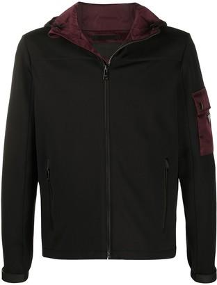 Prada pocket sleeve hooded jacket