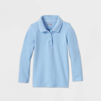 Cat & Jack Toddler Girls' Long Sleeve Interlock Uniform Polo Shirt - Cat & JackTM