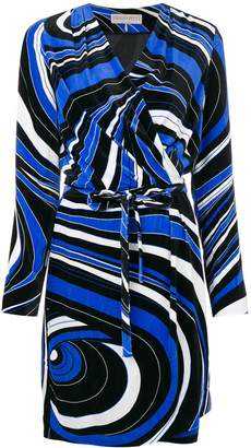Emilio Pucci abstract pattern wrap dress