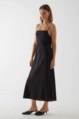 Cos Open-Back Silk Slip Dress