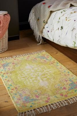 Urban Outfitters Milo 2x3 Printed Chenille Rug - yellow at