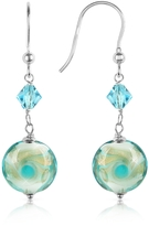 Murano House of Vortice - Turquoise Swirling Glass Bead Earrings