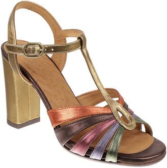 Chie Mihara Balta Multicolored T-Strap Sandals