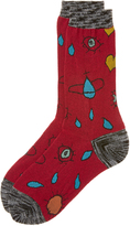 Vivienne Westwood Red Heart and Eye Socks One Size