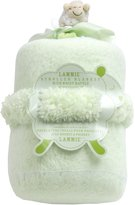 Piccolo Bambino 2 Count Lammie Stroller Blanket with Wrist Rattle