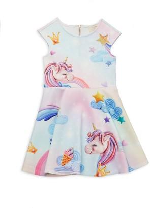 Hannah Banana Little Girl's Unicorn Fit-&-Flare Dress