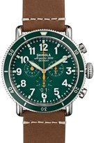 Shinola 47mm Runwell Sport Chronograph Watch, Brown/Green