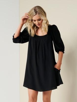 Forever New Abbie Babydoll Skater Dress - Black - 8