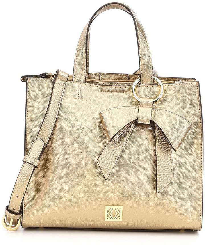 Kate Landry Mini Me Metallic Bow Satchel