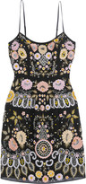 Needle & Thread Embellished embroidered crepe mini dress