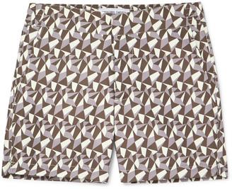 Frescobol Carioca Fragment Slim-Fit Mid-Length Printed Swim Shorts
