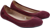 Accessorize Isabelle Elasticated Suede Ballerina Flat Shoes