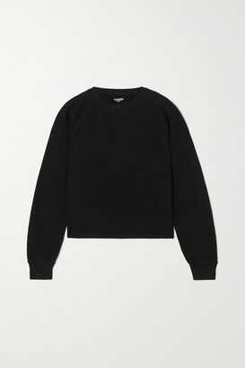 YEAR OF OURS Bella French Cotton-terry Sweatshirt - Black