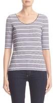 Armani Collezioni Women's Stripe Jersey Top
