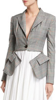 Monse Plaid Zip-Off Blazer Dress