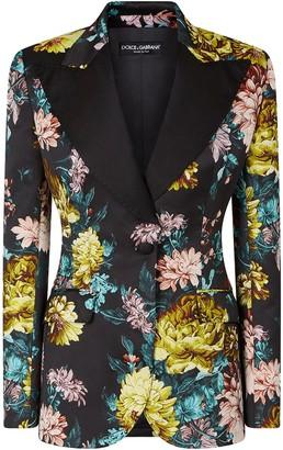 Dolce & Gabbana Floral Jacquard Detail Blazer