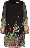 Yumi Butterfly & Floral Print Dress
