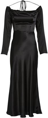 MATÉRIEL Off-the-Shoulder Silk Dress