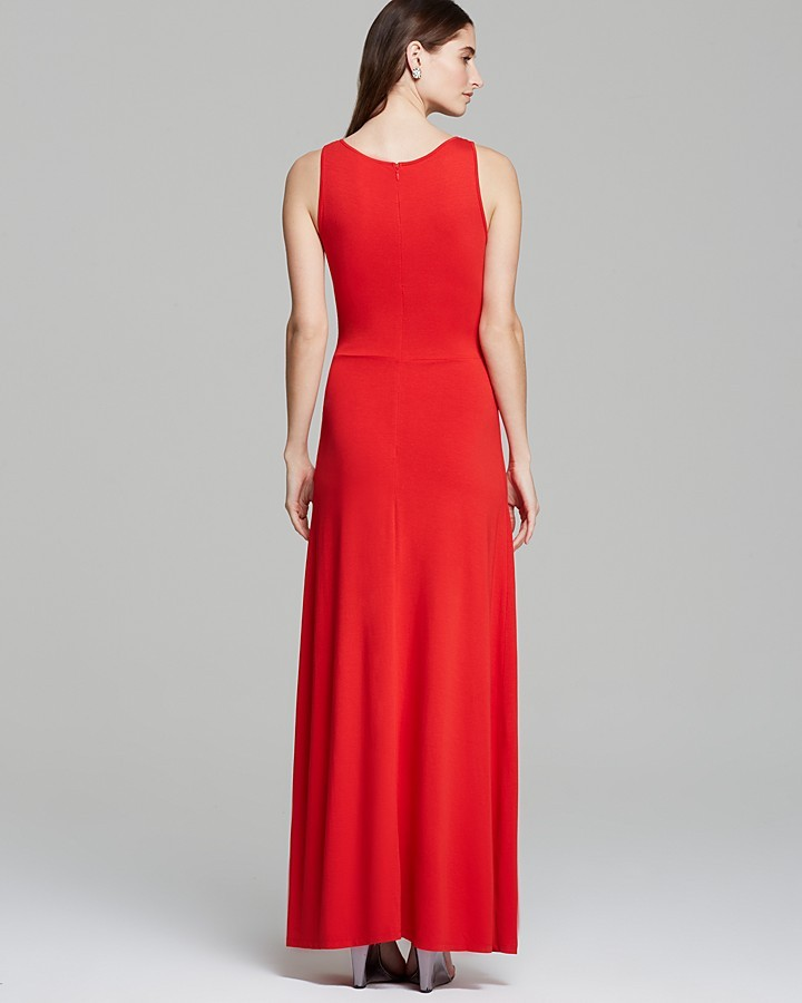 Vince Camuto Sleeveless Maxi Dress with Mesh Inset