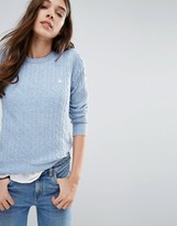 Jack Wills Tinsbury Cable Crew Neck Sweater