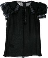 Giambattista Valli frill sleeve blouse - women - Cotton - 38