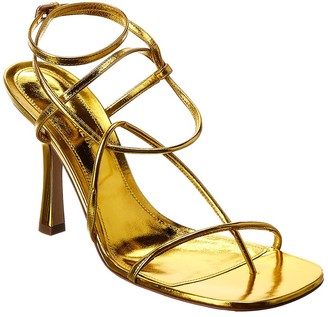 Bottega Veneta Ankle Strap Leather Sandal