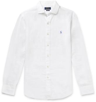 Polo Ralph Lauren Slim-fit Linen-chambray Shirt - White