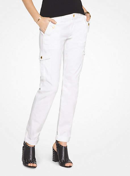 Michael Kors Cargo Straight-Leg Jeans